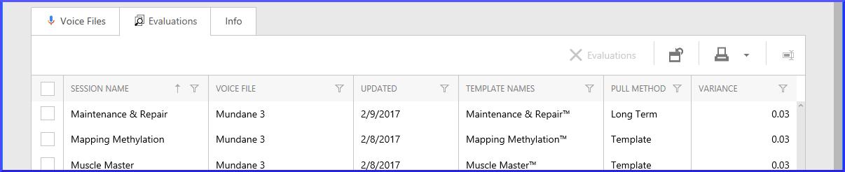 Client Folder Evals